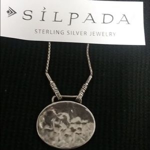 RETIRED N1356 Silpada Hammered Pendant-Necklace
